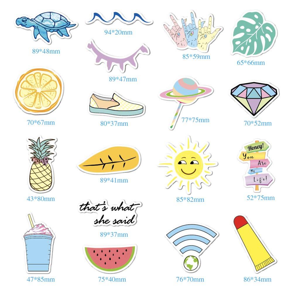 35 Pezzi Sunshine smile Pack di Adesivi Casuali per Laptop,Decalcomania per Laptop Bagaglio da Snowboard,Adesivo Valigia in Vinile,Adesivo Graffiti Vinile Skateboard Bicicletta
