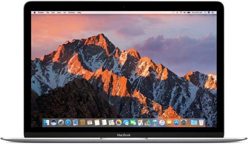 Apple MNYH2LL/A 12in MacBook, Retina, 1.2GHz Intel Core m3 Dual Core Processor, 8GB RAM, 256GB SSD, Mac OS, Silver (Newest Version) (Renewed)