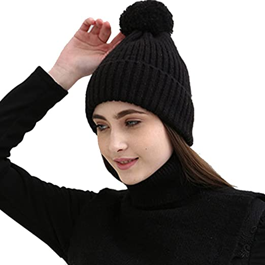 e0f2283cc K-mover Women Knitted Hat Scarf and Gloves Set Soft Warm Beanie for Cold  Weather