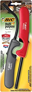 BIC Multi-Purpose Classic Edition Lighter & Flex Wand Lighter, 2-Pack (Colors May Vary)