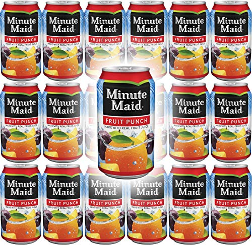 Minute Maid Fruit Punch, Made With Real Fruit Juice, 12 Fl Oz Cans (Pack of 18, Total of 216 Fl Oz)