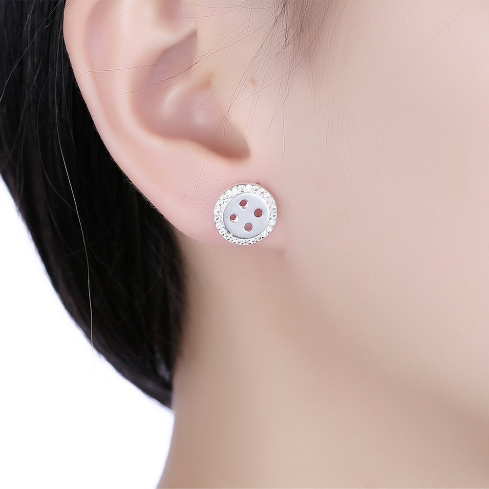 Silver Stud Earrings Jewelry Birthday Gifts Presents for Women Anniversary