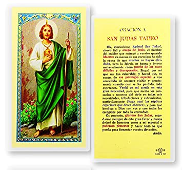 Amazoncom St San Judas Tadeo Patron De Lo Imposible Tarjeta De