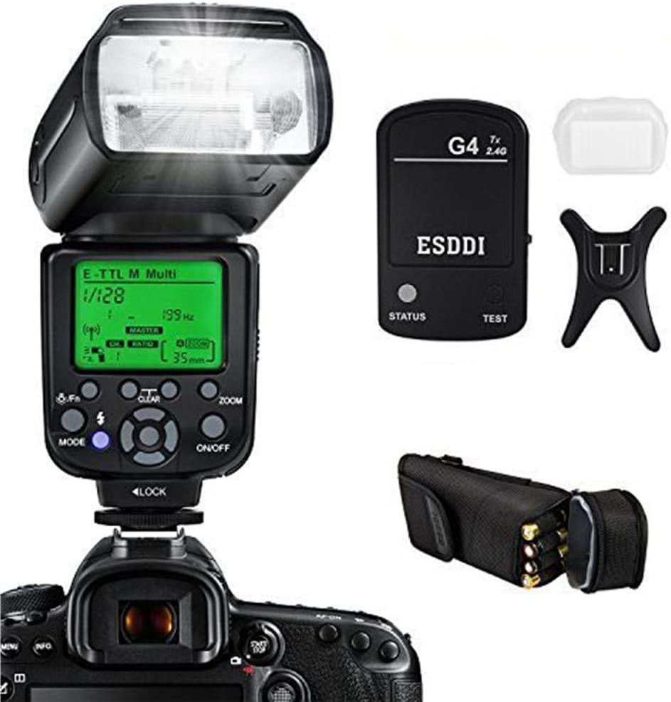 ESDDI Flash Canon, 1/8000 HSS Flash inalámbrico Speedlite GN58 2.4 ...