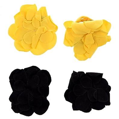cb8631967c3b9 SODIAL(R) 2 Pairs cute Top newborn girl boy Toddler Baby Shoes Flower Design