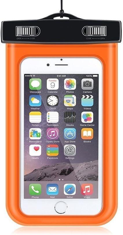 Super Plus Funda Brazalete – Funda impermeable bajo el agua funda para LG K5, 3,7 – 5.5 pulgadas Smartphone naranja LG K5: Amazon.es: Informática