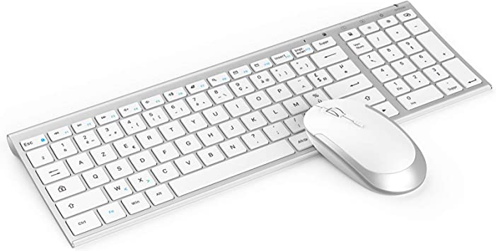 Jelly Comb - Teclado inalámbrico recargable, teclado plano ...