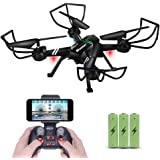 Drone with Camera for Adults, JoyGeek FPV RC Quadcopter Aircraft Wifi Live Video Altitude Hover 3D VR 2.4GHz 6Axis Gyro Headless Mode APP Remote Control for iPhone Android