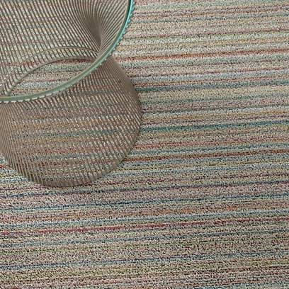Chilewich Shag Skinny Stripe Floormat Runner 24'' X 72'' Soft Multi