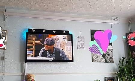 Zice - Soporte universal para pared y techo (11 pulgadas, ajustable, para pantallas de proyección): Amazon.es: Electrónica