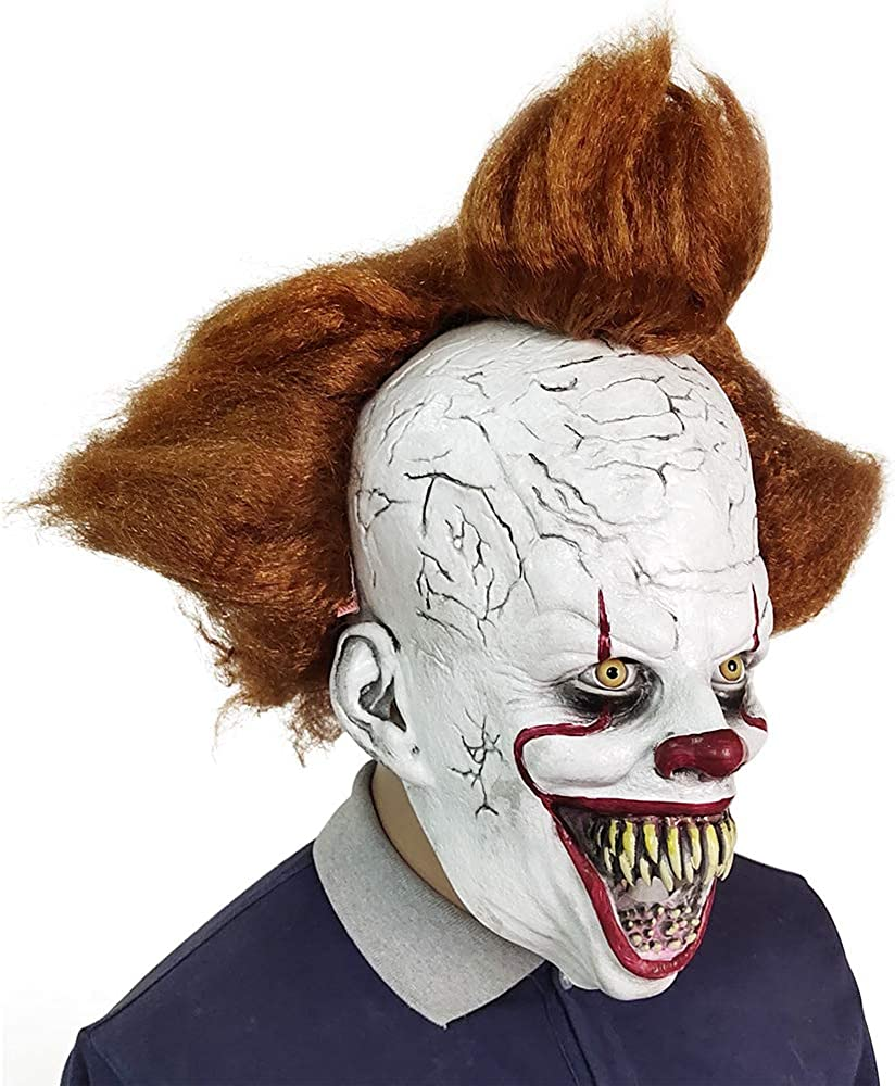 Clown Mask Scary Halloween It Clown Mask,Creepy Pennywise Horror Joker Costume Cosplay Decoration Party Props