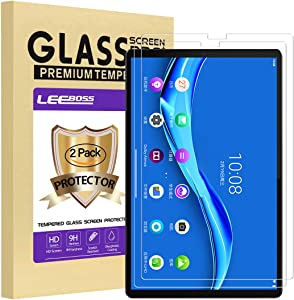 [2 Pack] LEEBOSS Lenovo Tab M10 FHD Plus Screen Protector, Ultra Clear 9H Hardness Premium Tempered Glass Film Screen Protector for Lenovo Tab M10 FHD Plus/TB-X606F (10.3