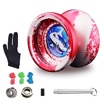 MAGICYOYO Responsive Yoyo T9 for Beginners with Replacement Unresponsive Yoyo Bearing for Advanced Players, Bonus Bearing Tool and Yo-Yo Glove Gift (Red): Toys & Games