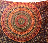 Hippie Mandala Tapestry, Hippie Tapestries, Wall Tapestries, Tapestry Wall Hanging, Indian Tapestry, Bohemian Bedding Psychedelic Tapestry Size 55 X 85 Inch's