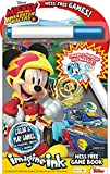 Bendon 41686 Disney Imagine Ink Mess Free Game Book, Mickey and the Roadster Racers