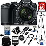 New Nikon COOLPIX B500 16MP 40x Optical Zoom Digital Camera USA in white box promo packaging (Non-Retail) 16GB Bundle includes Camera, Flash, Bag, Card Reader,Wallet, AA Batt+Charger, 50 Tripod+MORE!