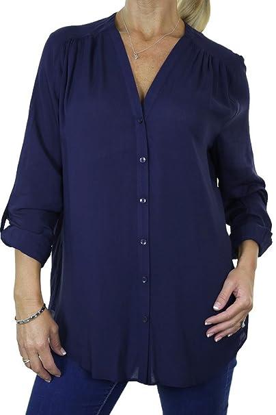 ICE (4062-2) Día en color Azul marino manga larga elegante blusa (