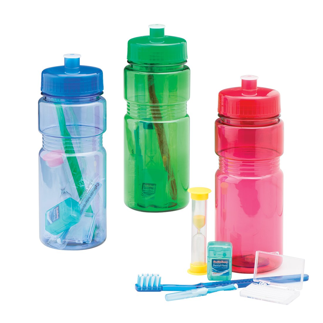 SmileMakers Water Bottle Ortho Kits - Dental Hygiene Products and Supplies - 144 per Pack