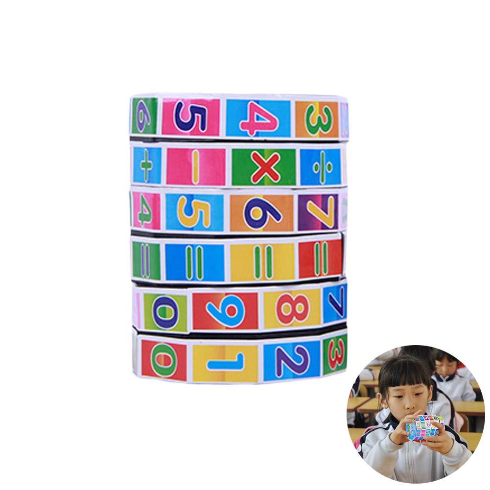 Mallalah Enfants Rubik Cube Math Education Jouets Chiffres Mathé matiques Puzzle Jeu