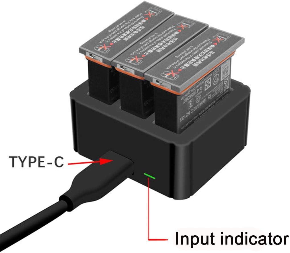 iEago RC Hub de Charge Intelligent 3 en 1 Batterie Intelligente rc Station de Charge Rapide Chargeur de Batterie pour DJI OSMO Action Accessoires de Cam/éra avec 3 Ports de Batterie