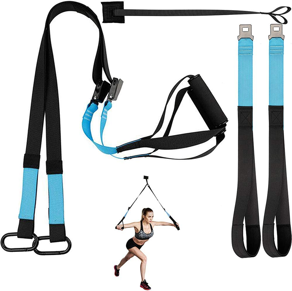 KEAFOLS Fitness Training Kit, Professional Bodyweight Resistance Training System Home Gym Fitness Trainer, Super Sturdy Training Straps for Full-Body Workout Exercise, USA Patented