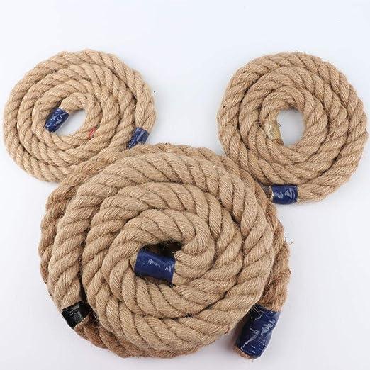 Tescogo Cuerda de Yute para jardín Cuerda artesanía, Embalaje, jardinería y Reciclaje Cuerda de cáñamo Embalaje Decorativo Grosor Cordel-Amarillo Pardo_3mm 40m: Amazon.es: Jardín