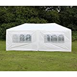 Woworld Outdoor Canopy Tent 10ftx30ft /10ftx20ft Carport Sidewalls Windows Wedding Party Tent White.
