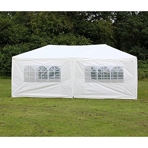 Woworld Outdoor Canopy Tent 10ftx20ft Carport Sidewalls Windows Wedding Party Tent White(10x20)