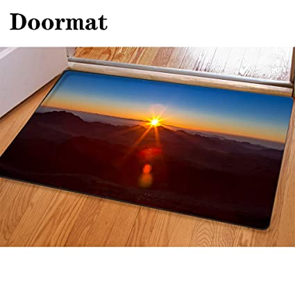Amazon com: 3D Printing and Dyeing,Bathroom Carpet, Door