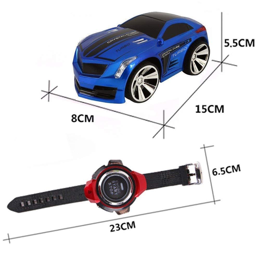 Commando de voies voiture koiiko sans fil rechargeable de 2,4 GHz haute vitesse t/él/écommande voiture Mini v/éhicules de contr/ôle de voix RC voiture voice-activated voiture avec montre v/éhicules