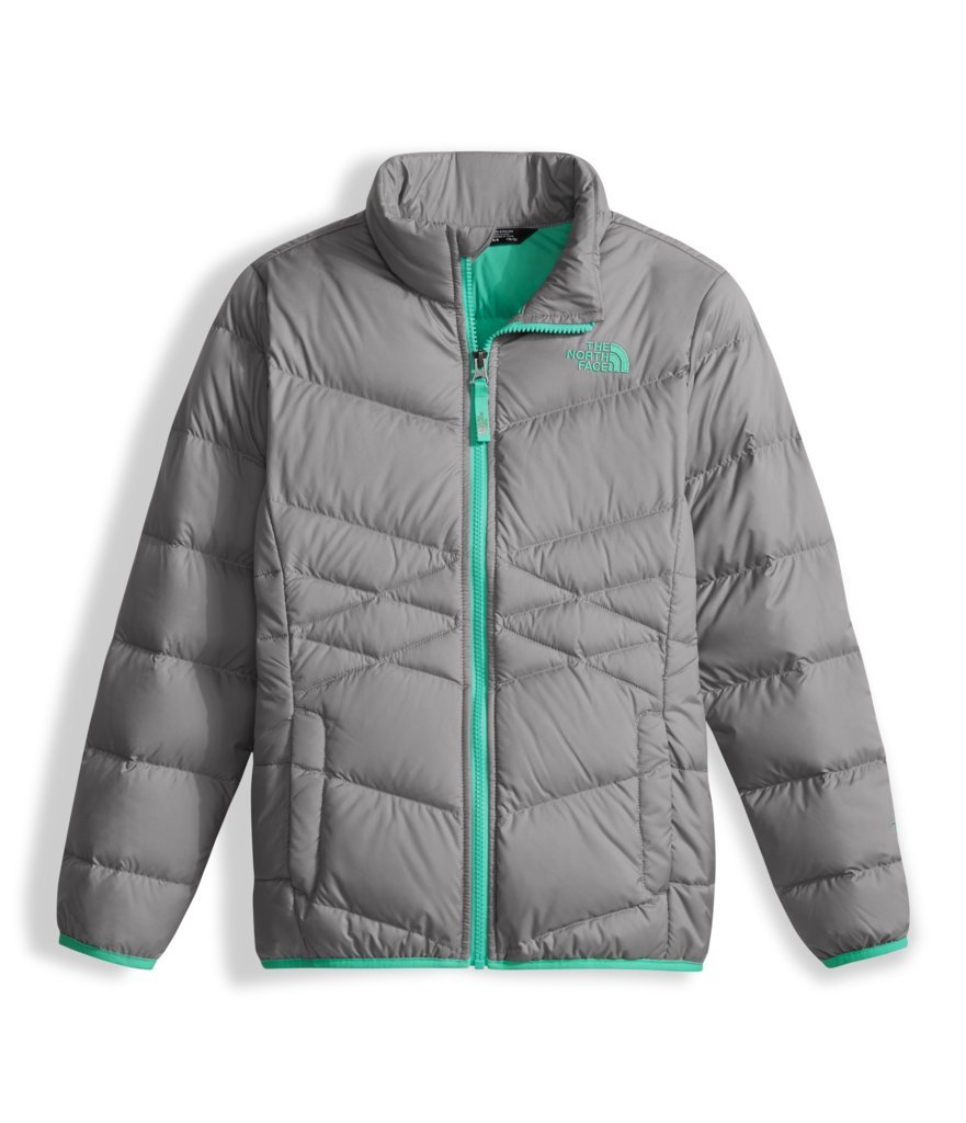 The North Face Girl's Andes Down Jacket - Metallic Silver - XS (Past Season)