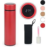 Tazza Intelligente LED Temperatura Display Touch Rosa Bottiglia dAcqua in Acciaio Inossidabile A Vuoto per Mantenere Futurehom 500ML Borraccia Termica Viaggio Bottiglia