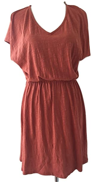 KIABI Vestido Color LADRILLO TAMAÑO S (38/40 IT Mujer)