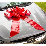 HONGJUYUAN Big Red Car Gift Wrapping Large Bow Easy Pull Bow(Perfect Shape Guaranteed)