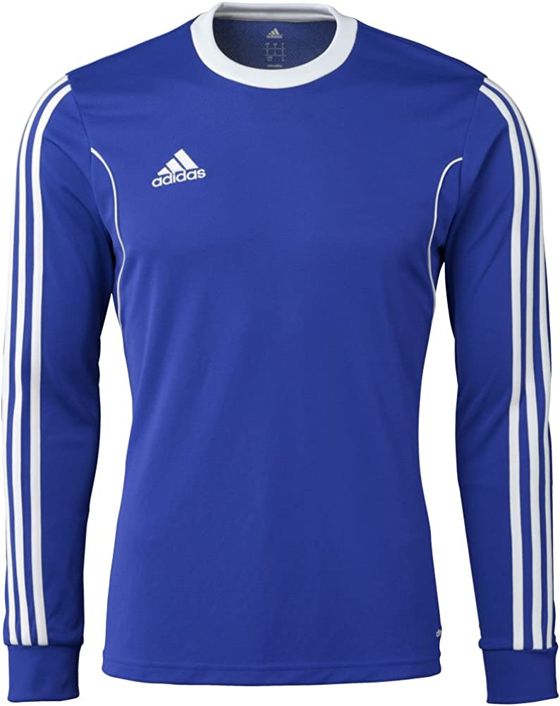 Adidas Squadra 13 Mens Long Sleeve Jersey S Bold Blue-White