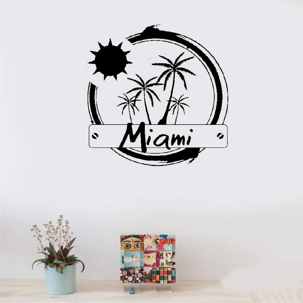 pegatinas de pared Miami Estados Unidos amanecer sobre palmeras ...