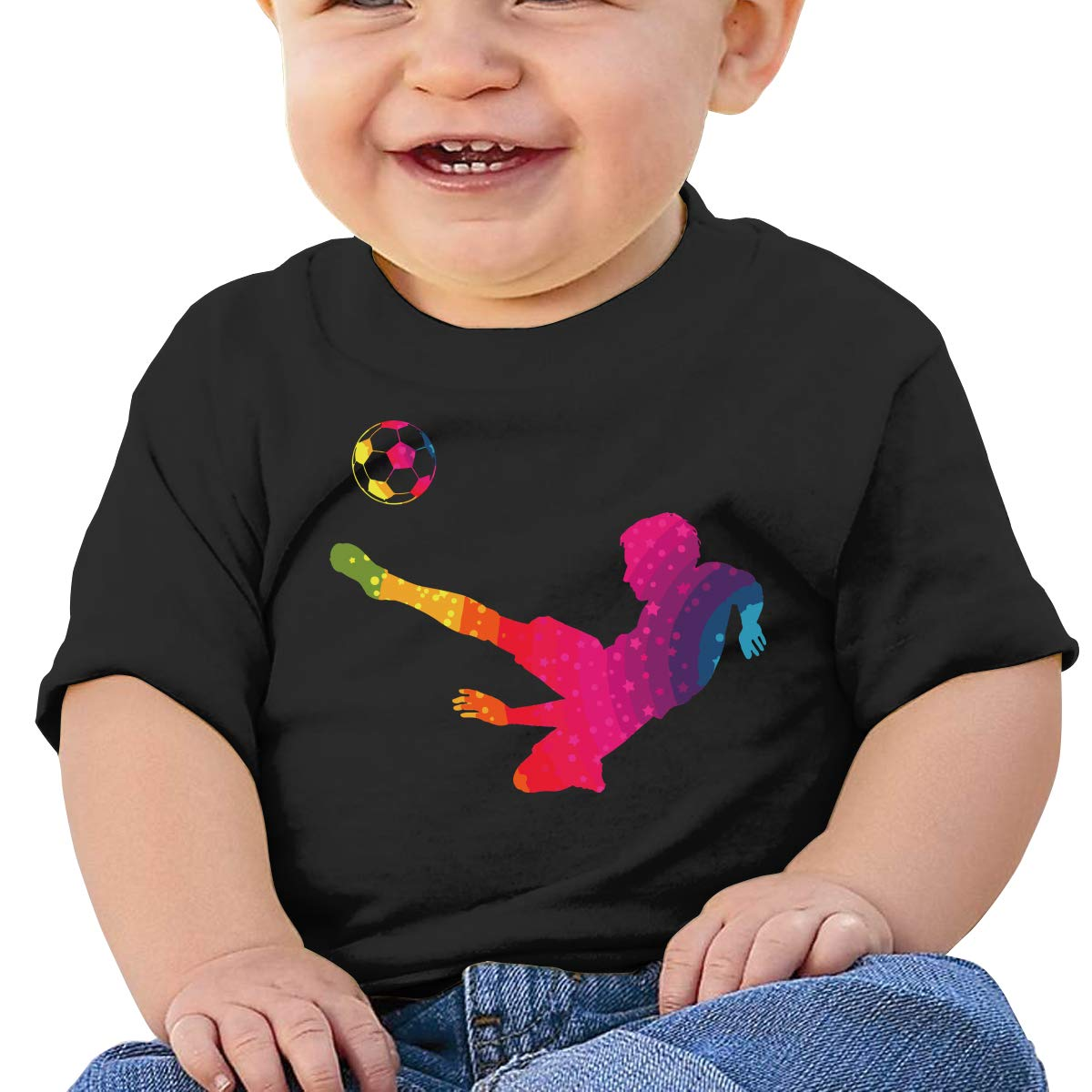 ZUGFGF-S3 Football Player Toddler Baby Newborn Short Sleeve Tee Shirt 6-24 Month Cotton Tops