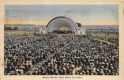 band-shell-toronto-ontario-canada-old-vintage-football-postcard-post-card