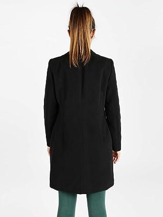 Coveri Collection Cappotto Nero Donna Sintetico  Amazon.it  Abbigliamento b93d16ed2edc
