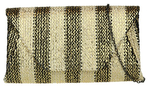 Woven Girly Black HandBags Clutch Girly Effect Woven HandBags Effect Bag CqpgfCnXw