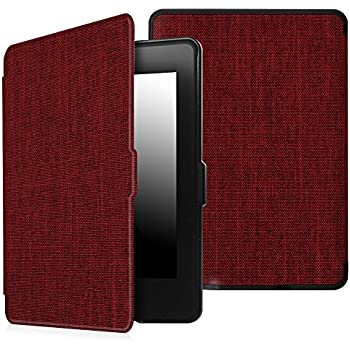 Fintie Case for Kindle Paperwhite - The Thinnest and Lightest Premium Fabric Cover Auto Sleep/Wake for All-New Amazon Kindle Paperwhite (Fits All 2012, 2013, 2015 and 2016 Versions), Denim Burgundy