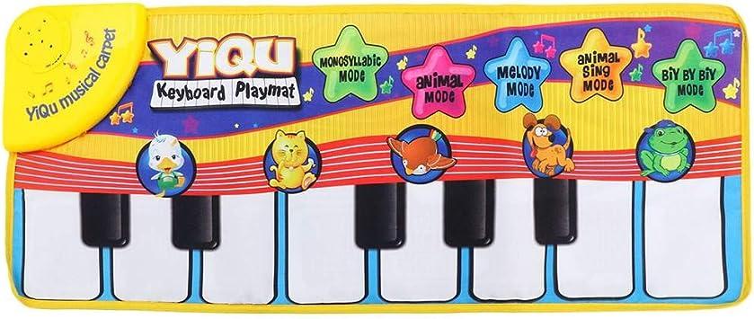 juguetes para bebé Musical Tacto Teclado Cantar Alfombra Animales Divertidos Piano Juguete
