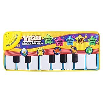 juguetes para bebé Musical Tacto Teclado Cantar Alfombra Animales Divertidos Piano Juguete: Amazon.es: Juguetes y juegos