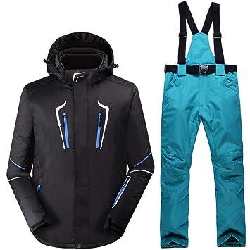 Zjsjacket Chaqueta de Esqui Hombre Negro Ropa de Nieve Trajes de ...