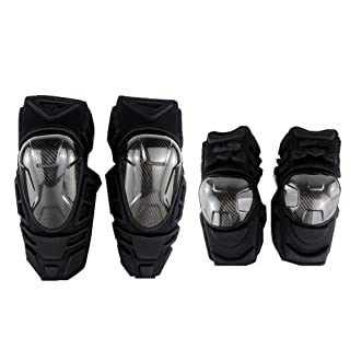 MagiDeal Genouill/ère Moto Cross Protection Genoux avec Coudi/ère Professionnel Adulte