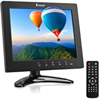 Eyoyo 8 inch Small TV Monitor Portable HDMI Screen, 1024x768 LCD IPS Display Kitchen TV Camper TV w/TV/HDMI/VGA/USB/AV Input Built-in Loudspeakers w/TV Antenna