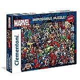 Clementoni 39411 Clementoni-39411-Impossible Puzzle-Marvel-1000 Pieces, Multi-Colour