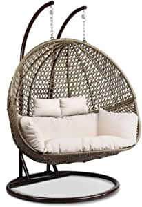 Rattan swing - double hanging chair for two people - suitable for gardens, villas and roofs , 2725610116283