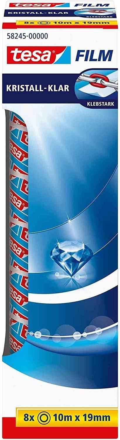 19mm tesa Easy Cut tesafilm kristall-klar 10m Tischabroller Orca inkl