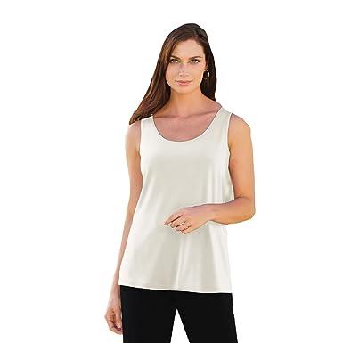 8992910702ae2 Blair Women s Plus Size Tank - XL Cream at Amazon Women s Clothing ...
